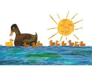Marmont Hill   Handmade 10 little Rubber Ducks Ducklings 1 Canvas Art   18 X 12