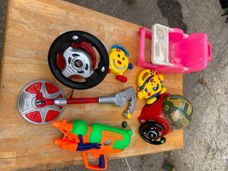 Variety of kids toys