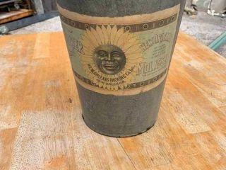 Vintage metal decorative bucket