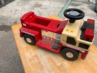 Toddler ride on fire engine