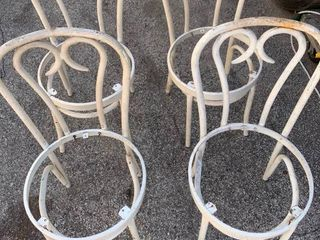 4 metal frame kitchen chairs
