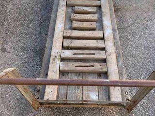 Heavy duty metal and wood cart