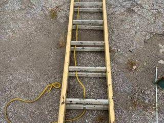 Metal extension ladder