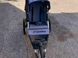 Jogging NordicTrack three wheel stroller