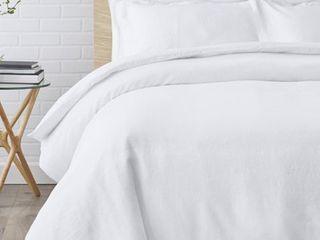 Echelon Home Washed Belgian linen Duvet Cover Set  Retail 152 49