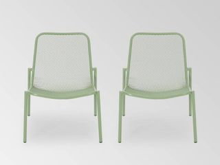 Bucknell Outdoor Modern Dining Chair  Set of 2  by Christopher Knight Home   26 00  W x 22 25  l x 26 00  H  Retail 138 49