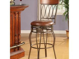 linon Bronze Counter Stool  Elliptical Back Design  Retail 116 49