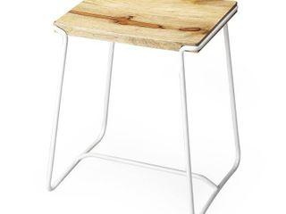 Handmade Butler Parrish Wood and Metal Stool  India  Retail 149 99