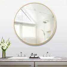 Carson Carrington Salmi Aluminum Alloy Framed Round Mirror  Retail 127 99