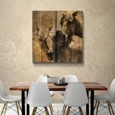 ArtWall s Horses Charcoal Gallery Wrapped Canvas  Retail 99 99