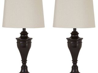 Darlita Bronze Finish 30 Inch Metal Table lamps   Set of 2  Retail 107 99