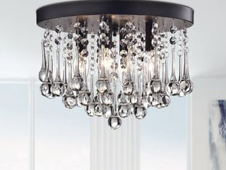 Scelene Crystal 4 light Flush Mount  Retail 134 49