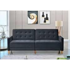 Jonathan Tufted Velvet Sofa  Retail 475 49 black