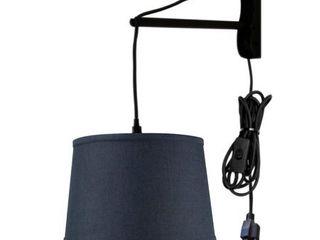 MAST Plug In Wall Mount Pendant  1 light White Cord Arm  Drum  Retail 88 99