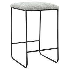Martha Stewart Hastings Grey  Black Counter Stool  Retail 119 99