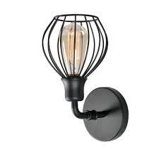 Amelia 1 light Sconce   Black Finish