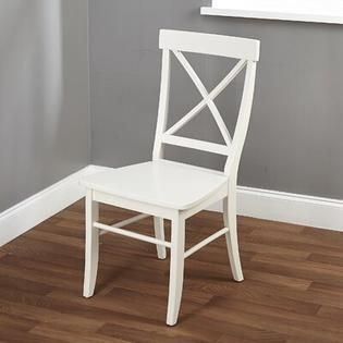 Simple living Easton Antique White Cross back Chair  Retail 92 99