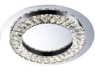 lED Flush Mount with Stainless Steel Frame and Clear Crystal  Retail 234 99