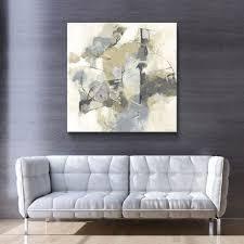 ArtWall CJ Anderson  Skyline I Archroma  Gallery Wrapped Canvas   Grey