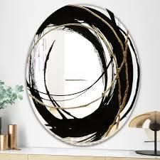 Porch   Den  Black   White 10  Glam Mirror  Retail 174 99