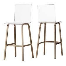 iNSPIRE Q Moore Clear Acrylic Swivel High Back Bar Stools Set Of 2    Missing The Hardware