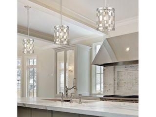 Avery Home lighting Almet Brushed Nickel 1 light Mini Pendant 1 only Retail 238 00