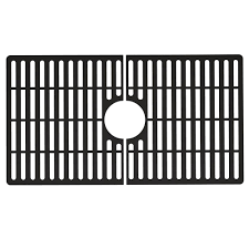 VIGO Silicone 27 in  x 15 in  Single Bowl Kitchen Sink Bottom Grid in Matte Black