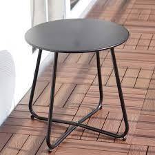 Grand Patio Steel Outdoor Round Side Table black