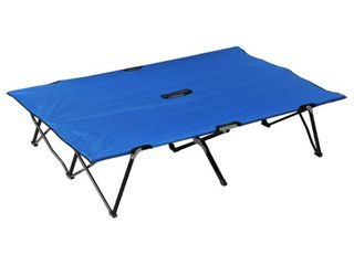 Outsunny Two Person Double Wide Folding Camping Cot  Retail 86 99