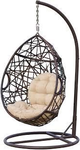 Cayuse Outdoor Wicker Tear Drop Hanging stand   STAND ONlY