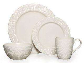 Gourmet Basics by Mikasa Hayes Stoneware 16 piece Dinnerware Set