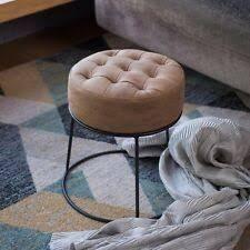 Art leon Furniture Dwarf Round Stool Ottoman Footrest Small Seat Faux leather