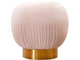 Abbyson Harper Velvet Poof Ottoman  Retail 132 49