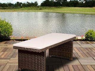 Atlantic Modena Brown 2 seater Patio Backless Bench  Retail 242 16