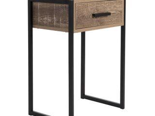 Carbon loft likel Weathered Wood Bedside Table