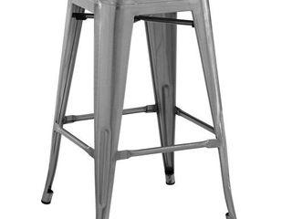 Modway Promenade bamboo bar stool in gunmetal