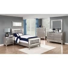 Silver Orchid Barriscale Contemporary Metallic headboard only