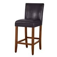 homepop parsons 29 inch luxury Brown Faux leather Barstool  Retail 86 99