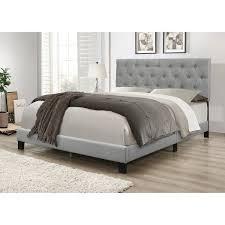 Copper Grove Gargan Upholstered Panel Bed  Retail 143 49 grey