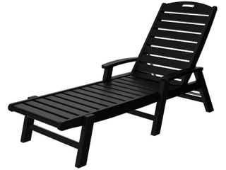 Trex Outdoor Furniture Yacht Club Chaise with Arms   Stackable  Retail 349 00
