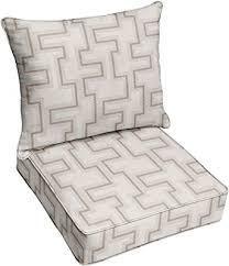 Sunbrella Resonate Dune Corded Sofa Cushion and Pillow Set