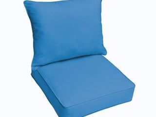 Sunbrella Canvas Capri 2 piece Cushion and Pillow Indoor Outdoor Set  Retail 159 99