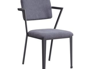 ACME Cargo Chair in Gray Fabric   Gunmetal  Retail 181 99