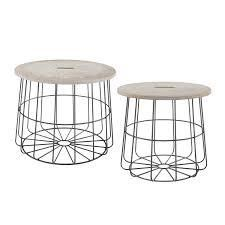 Carbon loft Racz Medallion Nesting Basket Tables  Retail 186 49