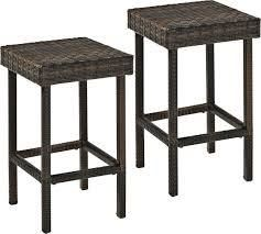Palm Harbor Outdoor Wicker 24  Counter Height Stool  Set of 2    Retail 131 49