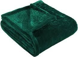 Superior Ultra Soft Plush Fleece blankets set of 2 green and grey