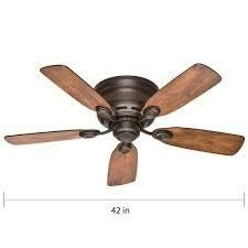 Hunter 42  low Profile Ceiling Fan with Pull Chain   New Bronze  Retail 79 98
