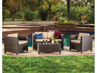 Puerta Outdoor 4 piece Sofa Set by Christopher Knight Home  Retail 856 99