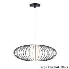 matt black finish large pendent light