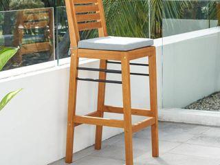 Gloucester Contemporary Patio Wood Bar Chair
